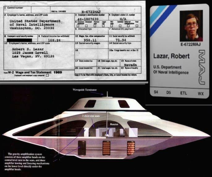 Bob Lazar discloses an extraterrestrial starship