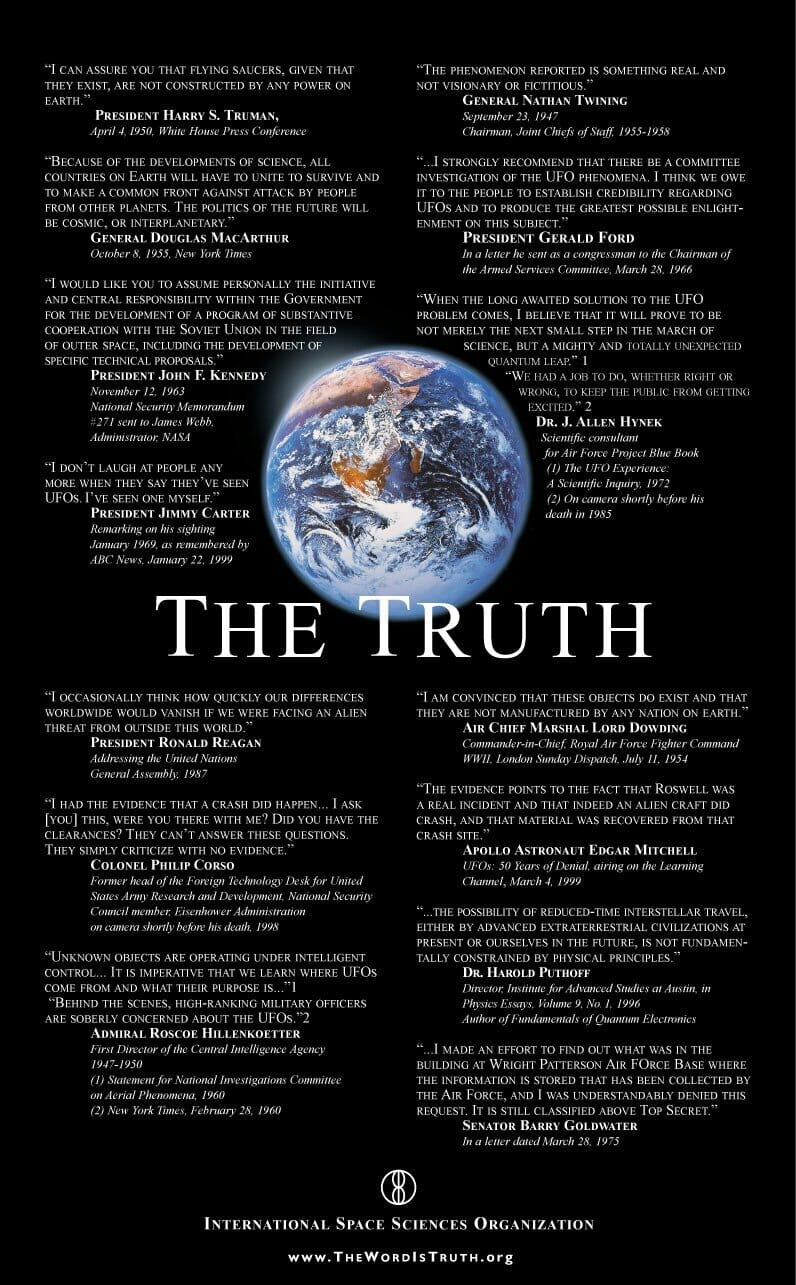 The Truth Quotes about extraterrestrials