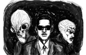 Men in Black with Aliens