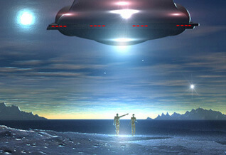 UFO Beam of Connection