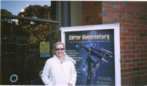 Nancy visiting Carter Observatory in Wellington, New Zealand