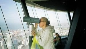Nancy at Sky Tower Aukland New Zealand