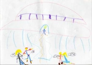 Children's drawings of Alien Encounters