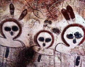 More cave drawings of extraterrestrial star beings by the aboriginal people in Kakadu National Park