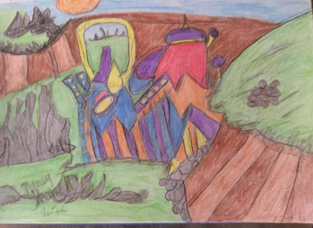 Flying Over Alien City