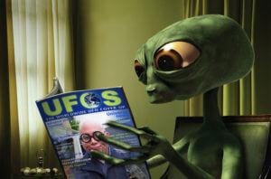 Alien reading material